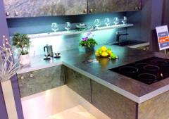 flexibler Schiefer, Steinteppich, Küche